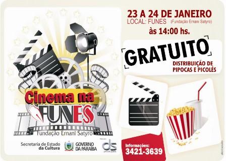 Governo do Estado Promove 8a. Edição do Cinema na FUNES