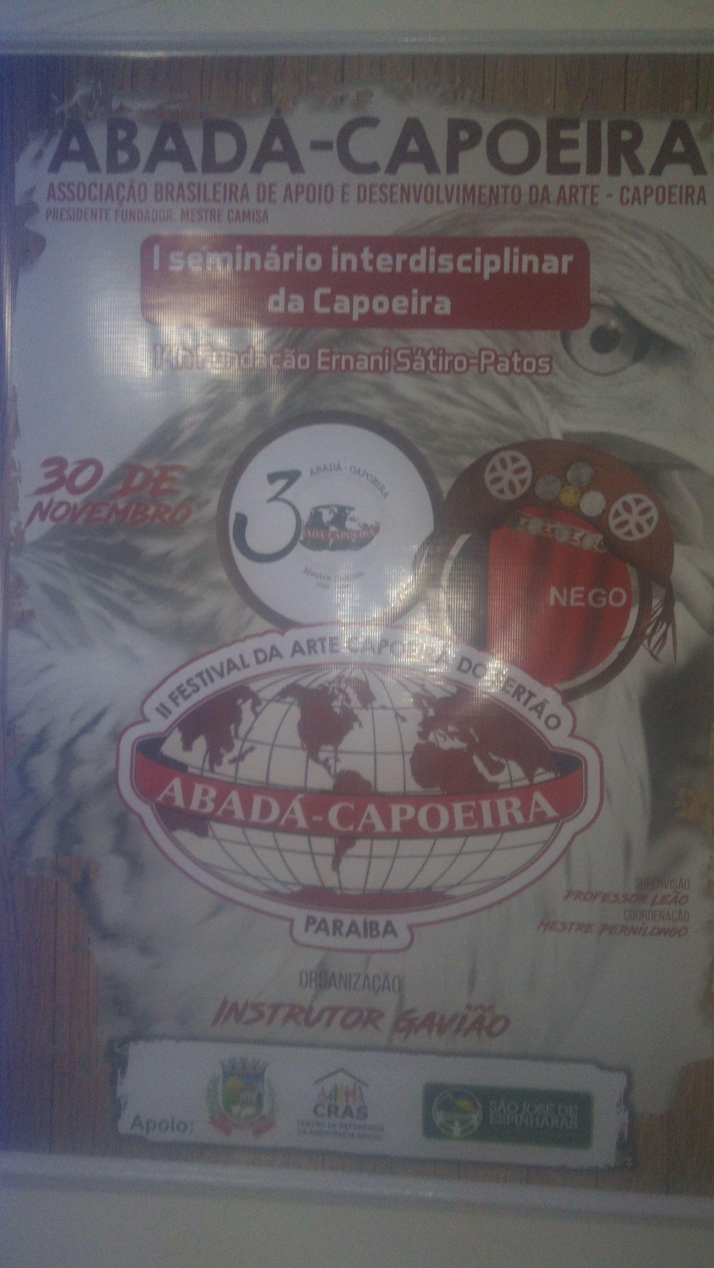 I SEMINÁRIO INTERDISCIPLINAR DE CAPOEIRA